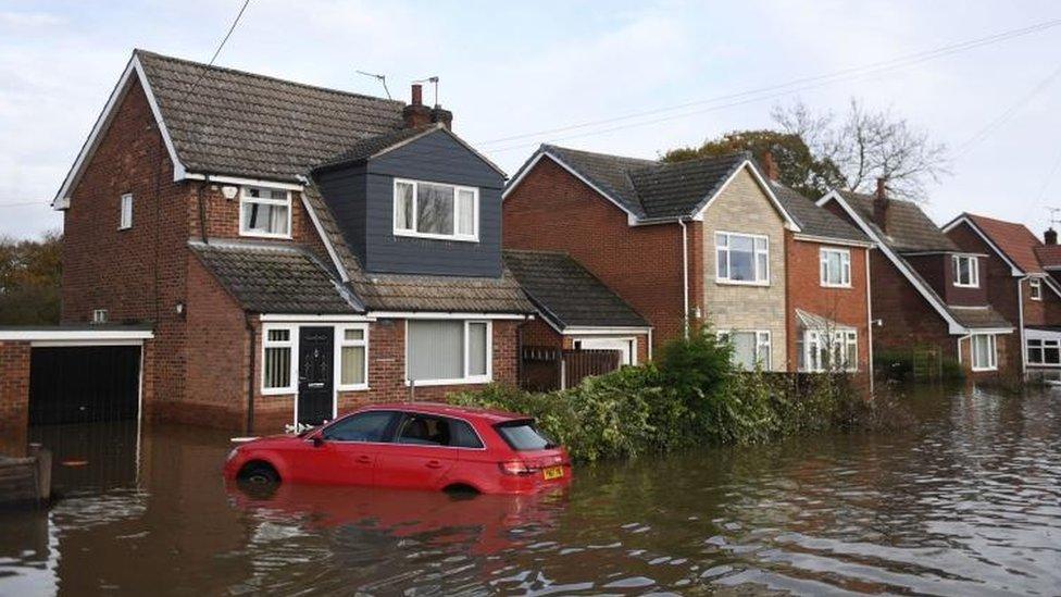 Flooding in Fishlake, near Doncaster