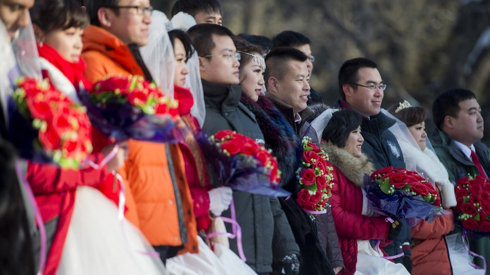 A group wedding ceremony in Heilongjiang, China in 2015
