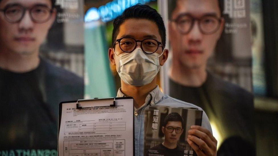 Nathan Law en una rueda de prensa en junio de 2020 en Hong Kong.