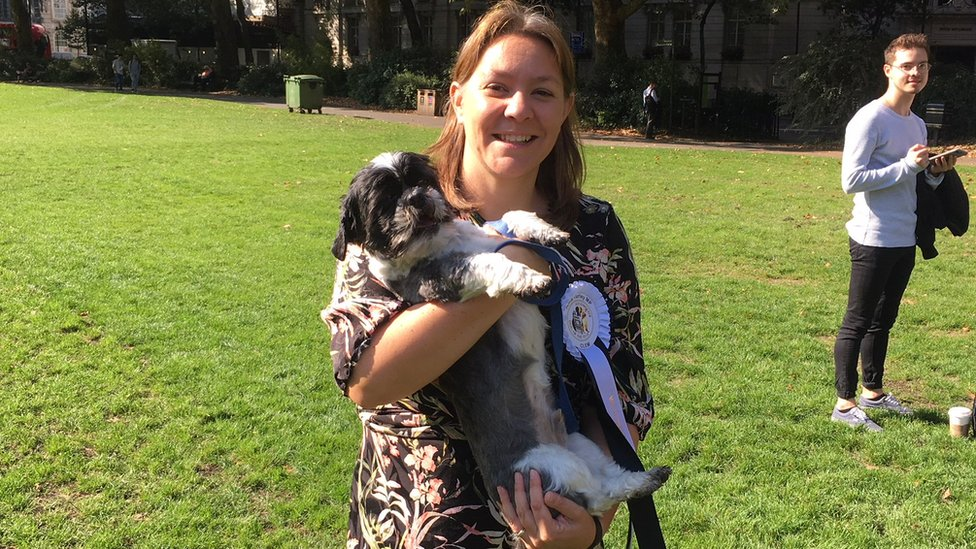 Anna Turley with her dog