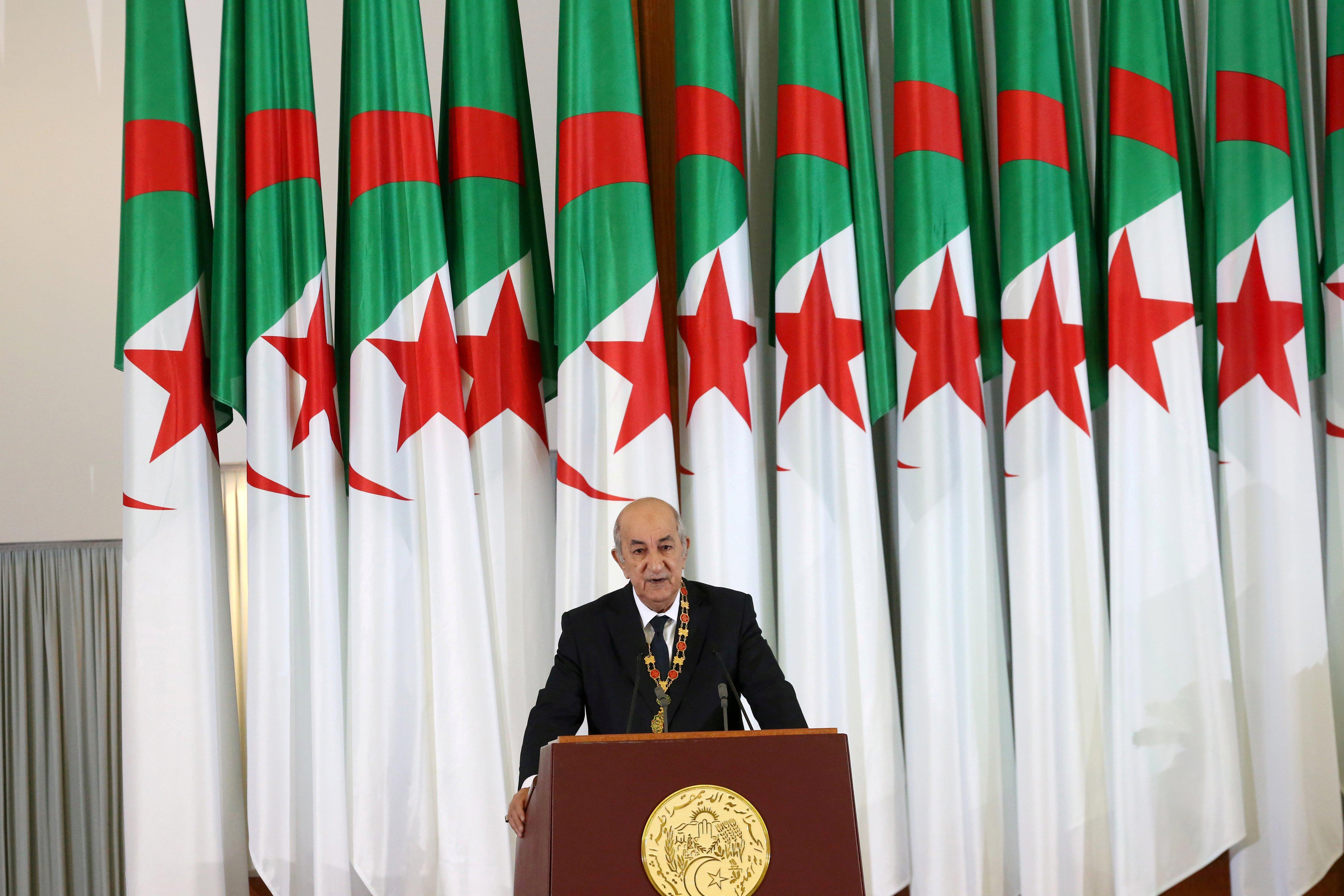 الرئيس الجزائري عبد المجيد تبون