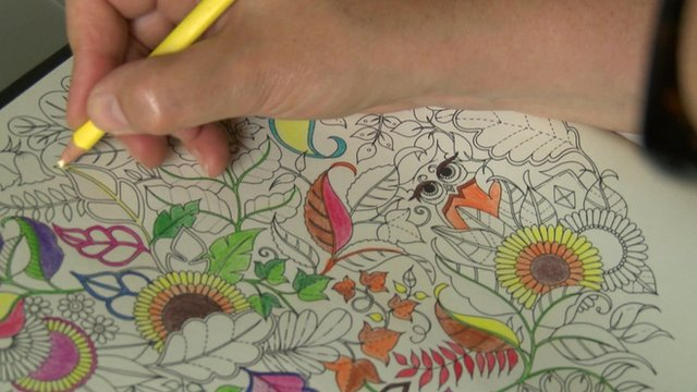 Page being coloured in