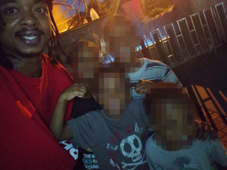 Jacob Blake y sus hijos