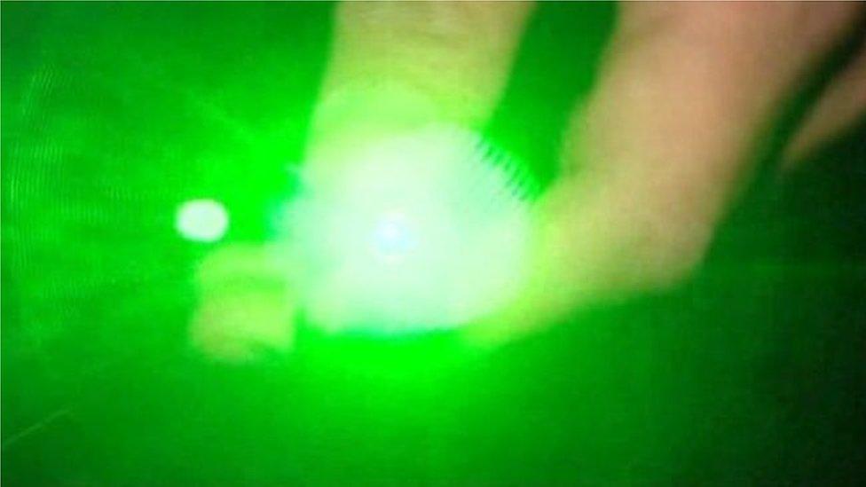 Laser pen targets rescue helicopter near Sanquhar