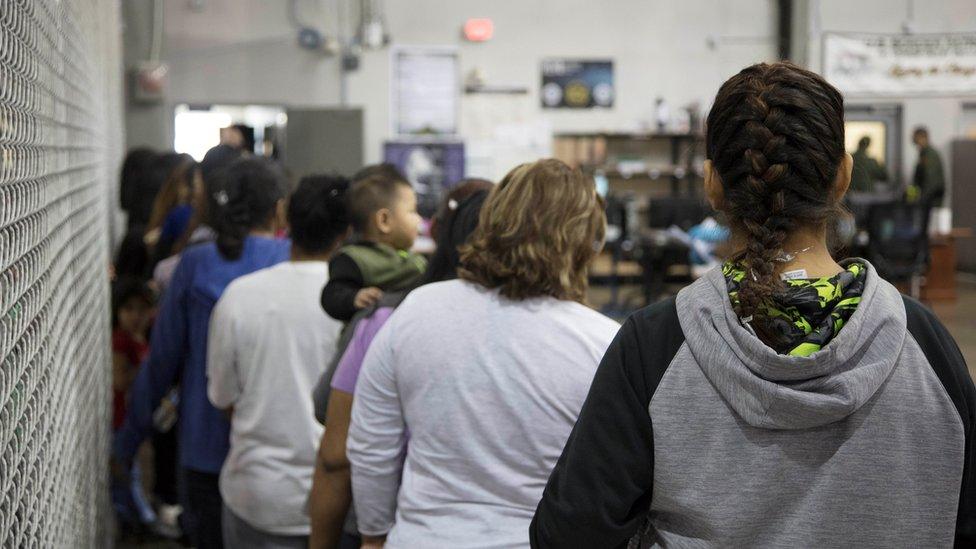 Centro de detención de refugiados en EEUU