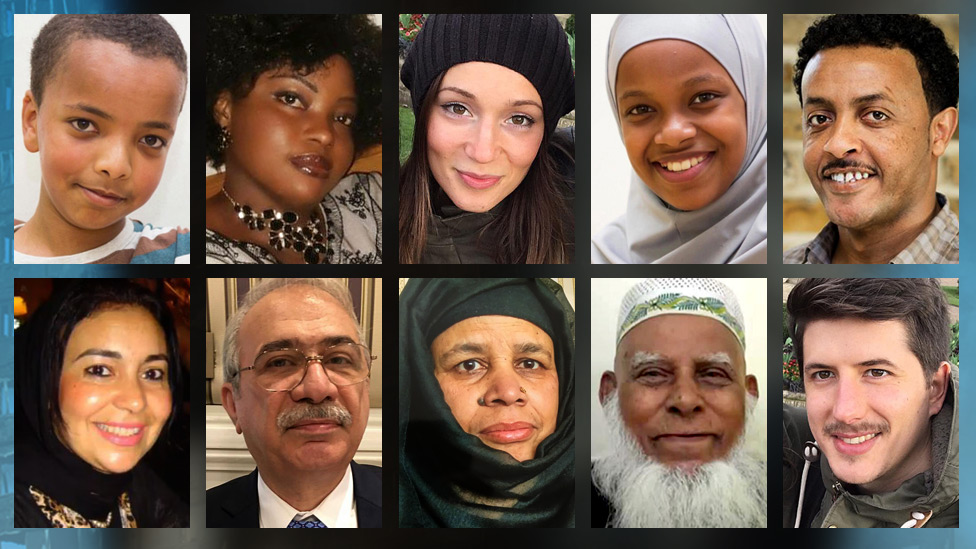 Composite image of some of the Grenfell Tower victims