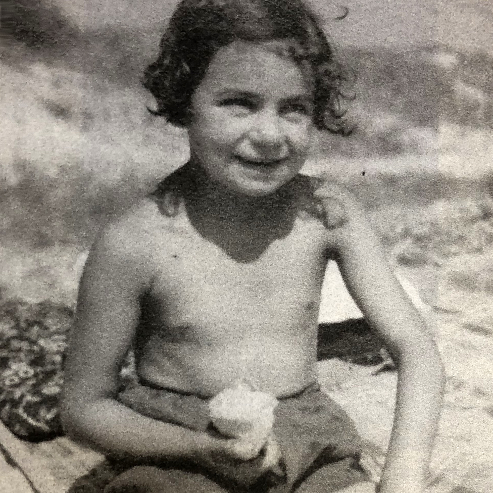 Ruth on holiday as a young child