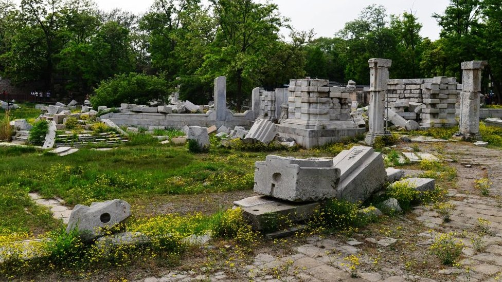 A view of the remainings in the Old Summer Palace