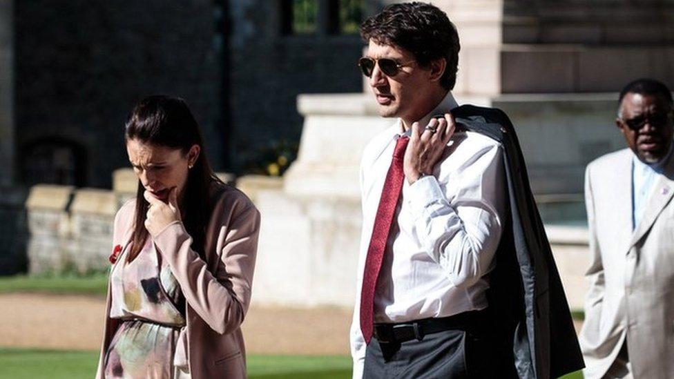 Justin Trudeau and Jacinda Arden