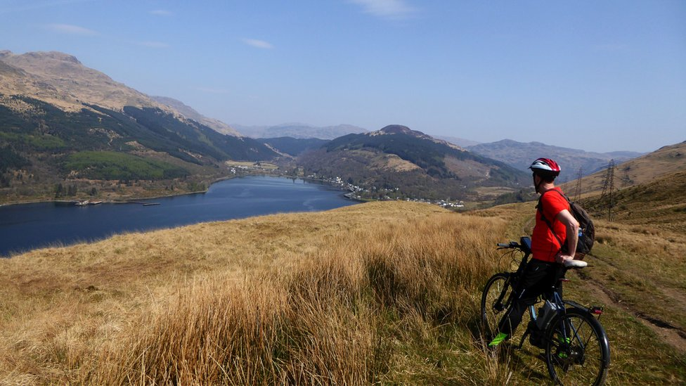 The view over to Arrochar, from the Three Loch Way.