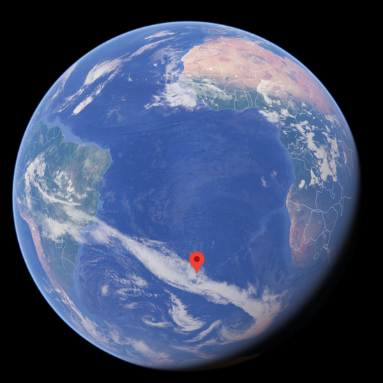 Google Earth view of where the island is