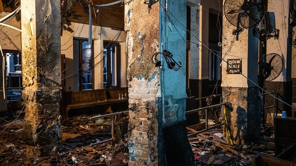 كنيسة القديس أنطوني في مدينة كولومبو استهدفت يوم الفصح.