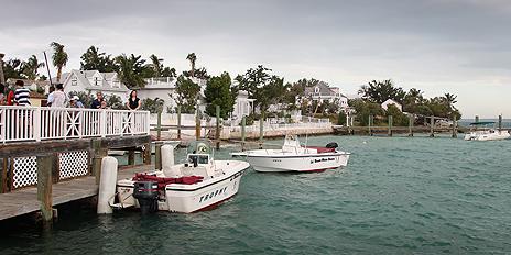 Pleasure boats on the Bahamas