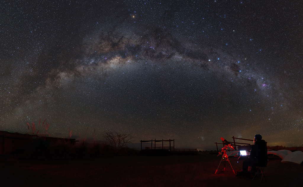 Eternity and Astrophotographer - San Pedro de Atacama, El Loa Province, Chile - by Yuri Zvezdny (People and Space, Runner Up)
