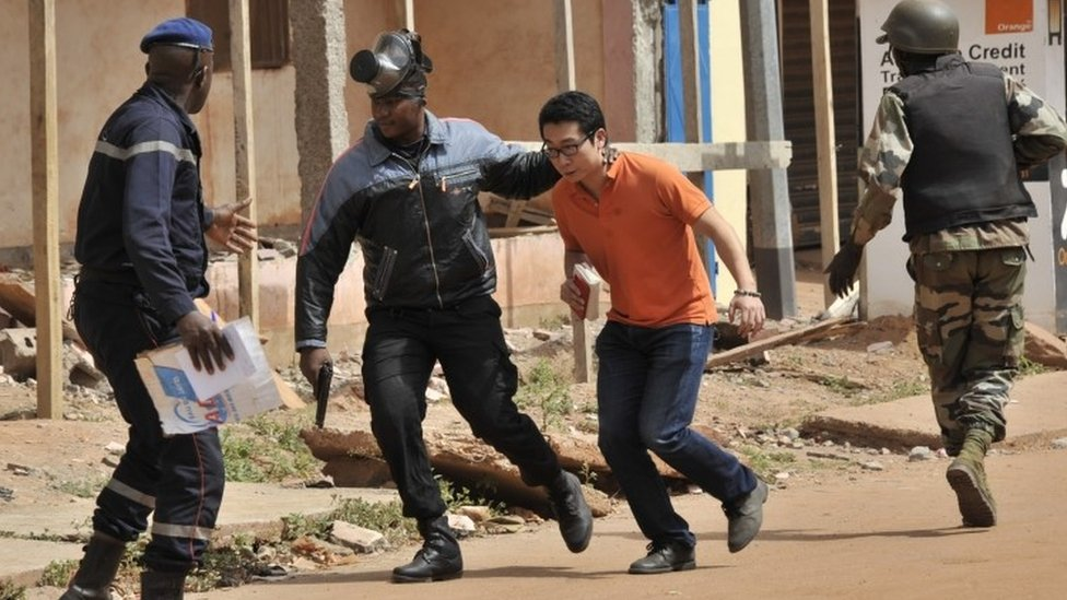 Malian security forces evacuated hostages from the hotel