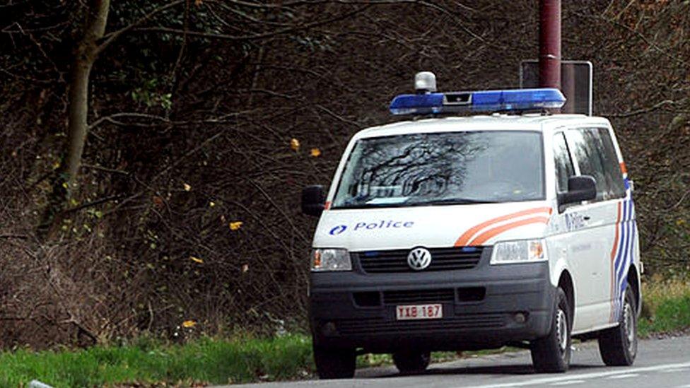 File pic of Belgian police van