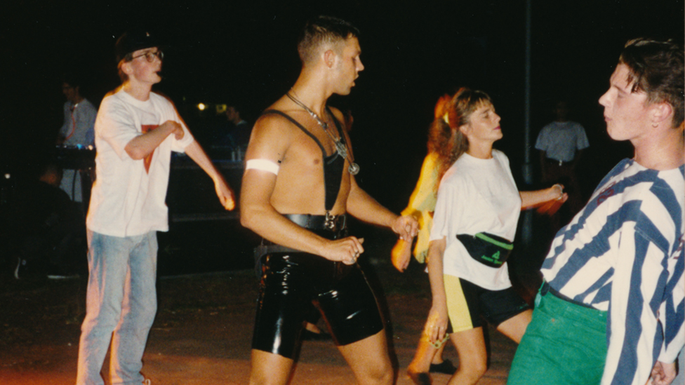 Ravers at Marco, Insel der Jugend in 1991