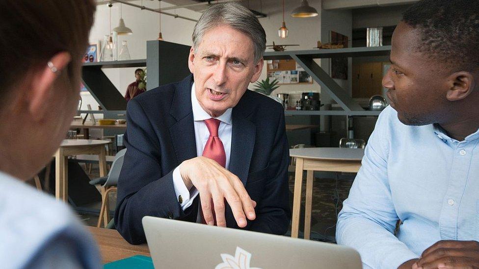 Philip Hammond talks to entrepreneurs