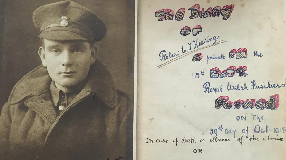 Pte Robert Keating diary