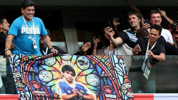 دييغو مارادونا في روسيا