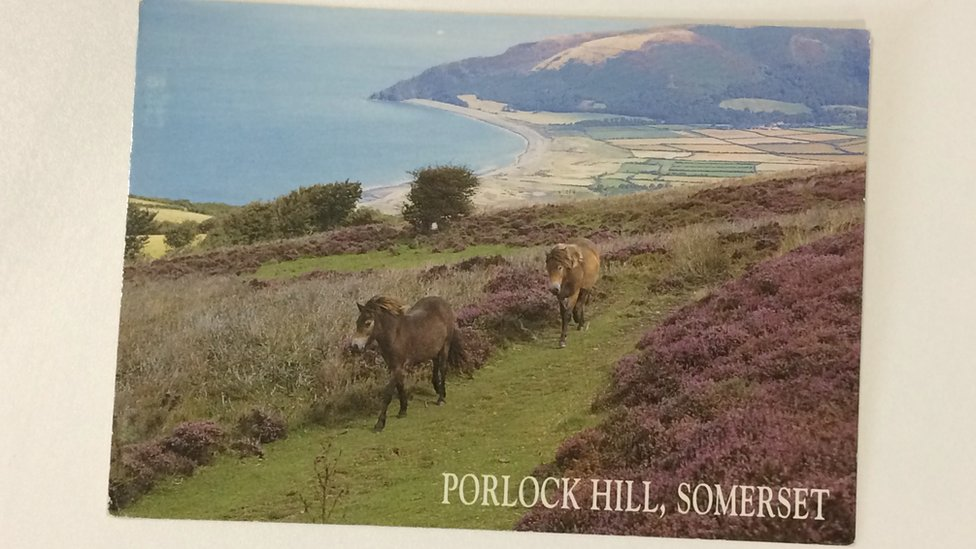 Postcard delivered from Somerset to Cornwall 21 years on