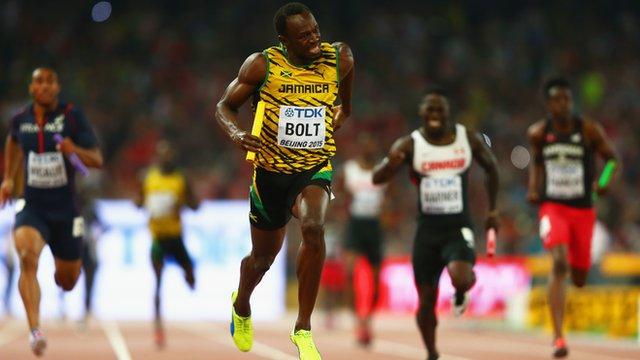 Usain Bolt lead Jamaica home for relay gold