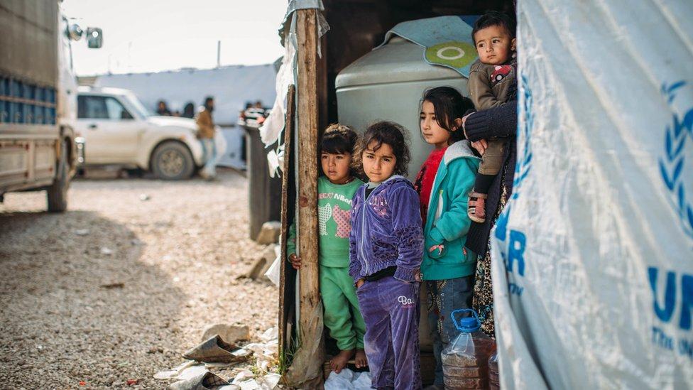 Lübnan'da Suriyeli mülteci çocuklar