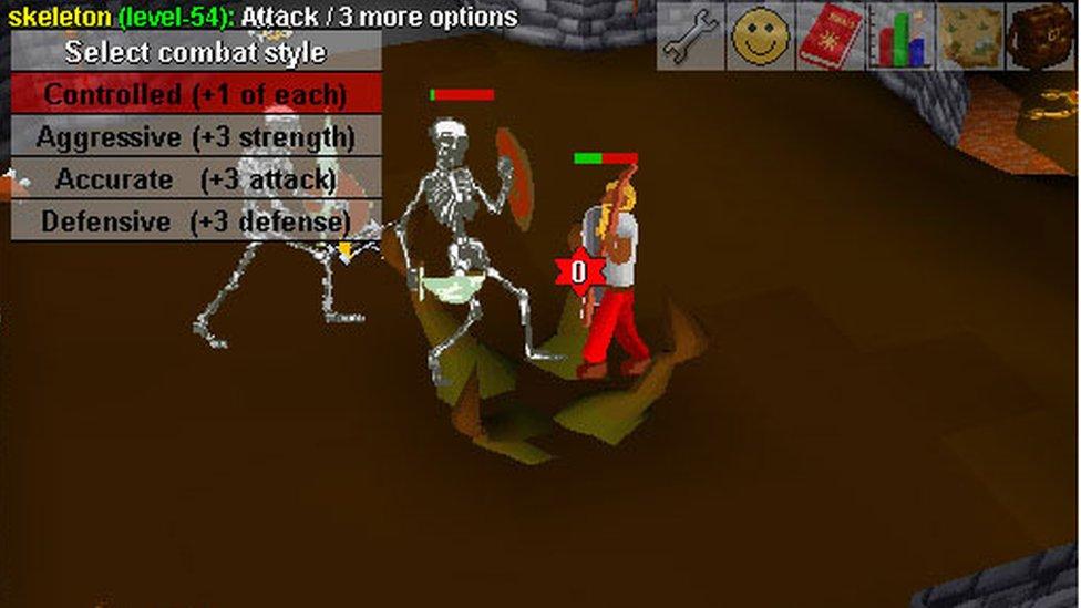Screen grab of RuneScape Classic