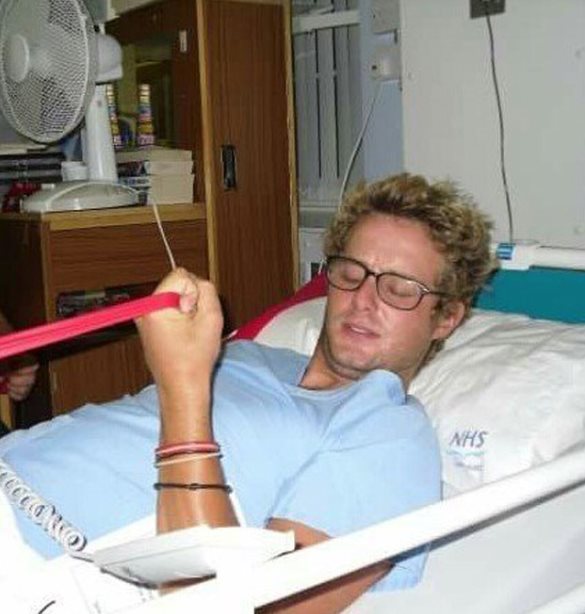 Rich Osborn while he was recovering in hospital