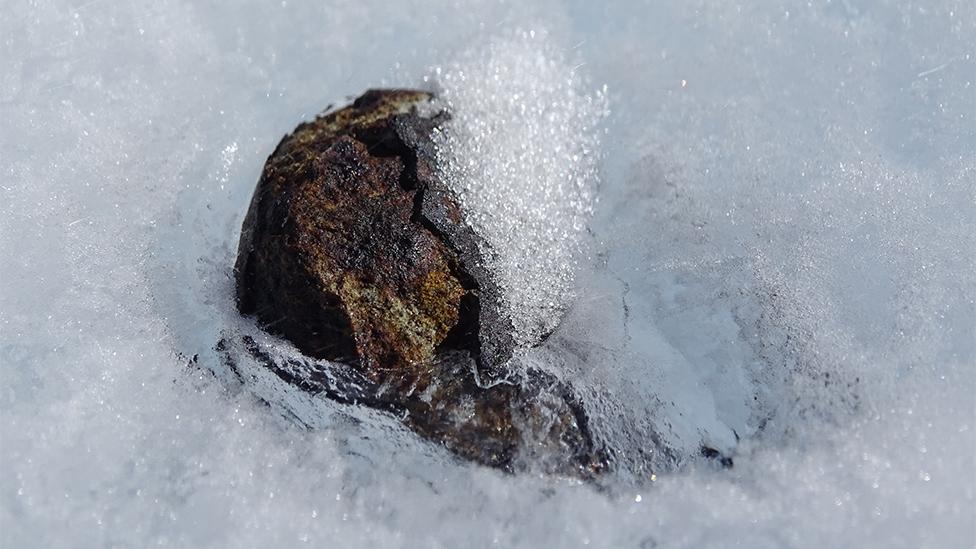 Meteorite up close