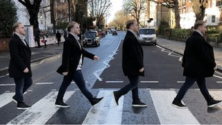 BBC News - Abbey Road: 50 years of the Beatles' famous album cover