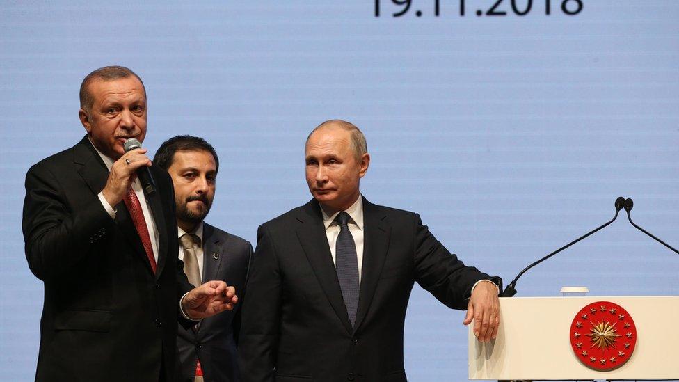 Redžep Erdogan i Vladimir Putin u Istanbulu, 19.11.2018.