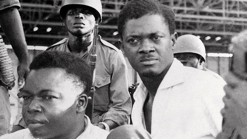 Patrice Lumumba after he was arrested