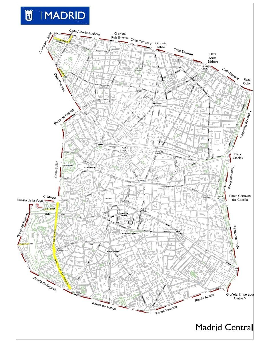 The area covered by the Madrid Central project-nc