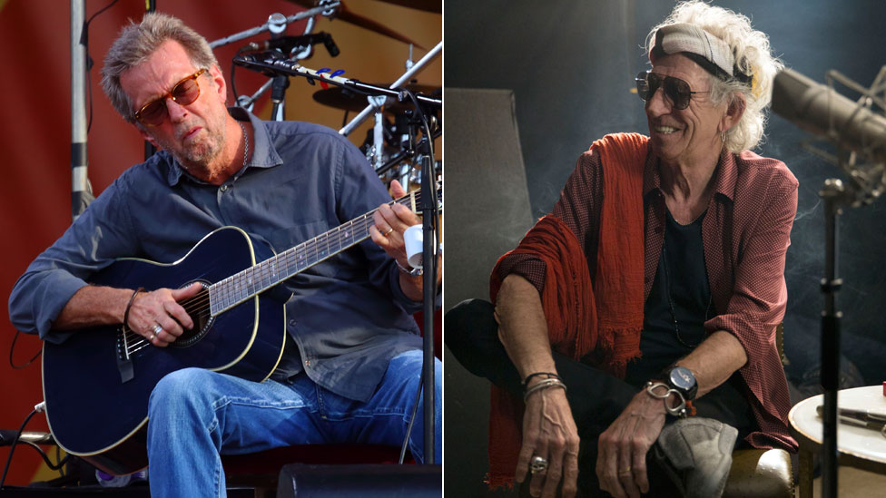 Eric Clapton and Keith Richards