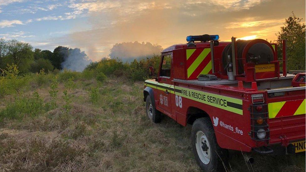 Fire rips through Hazeley Heath nature reserve