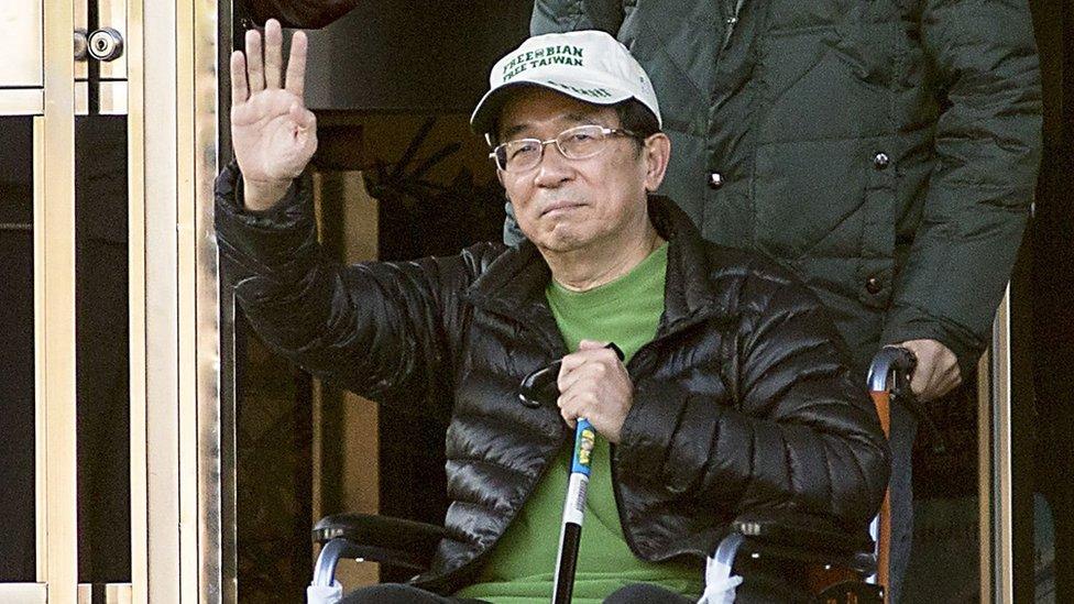 台灣前總統陳水扁2015年1月獲得保外就醫