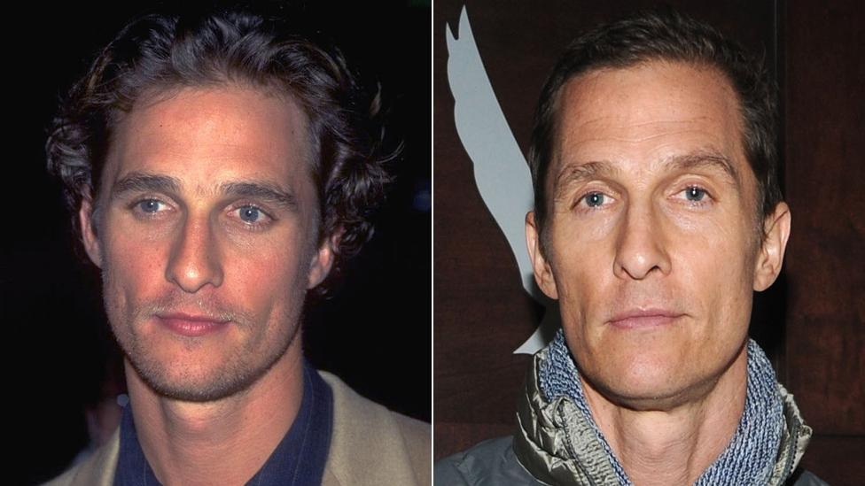 Matthew McConaughey en 1998 y en 2013