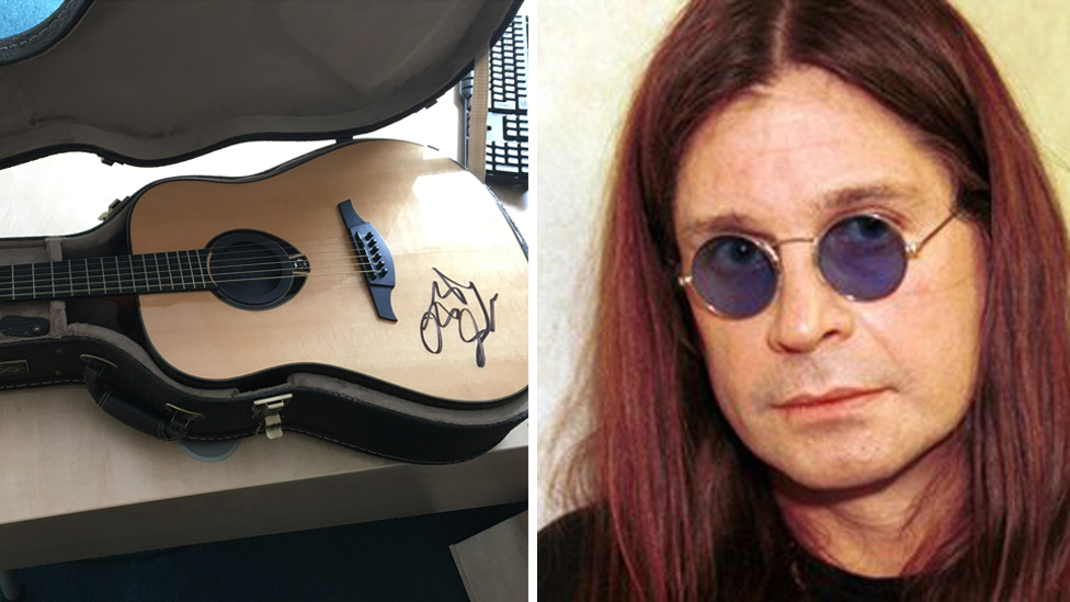 Ozzy's guitar raises money for hospice