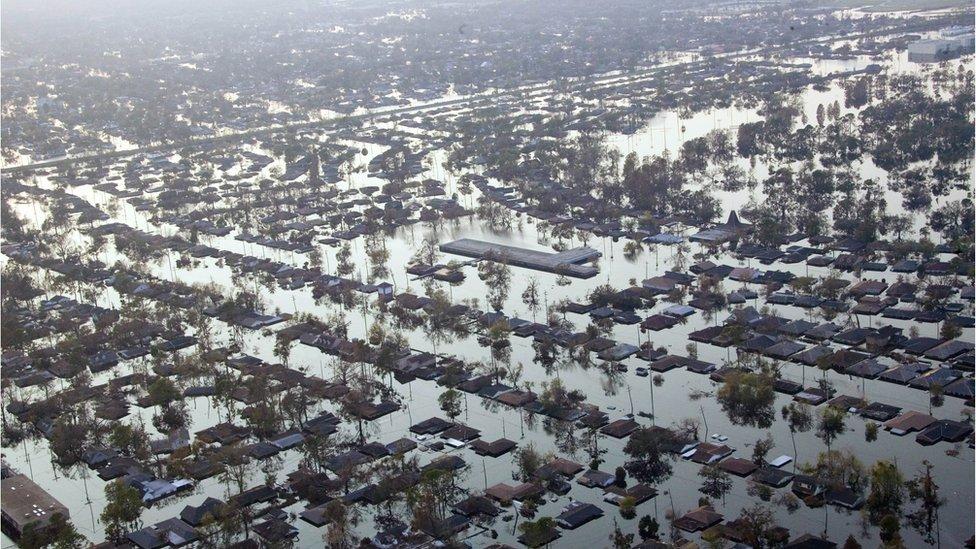 Gentilly neighbourhood of New Orleans after Hurricane Katrina - September 2005