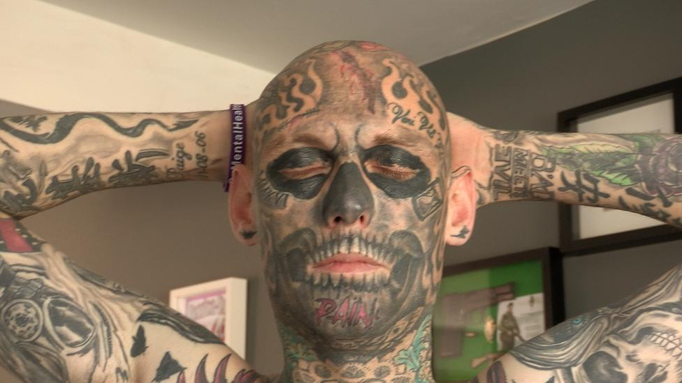 Chris Dalzell Tattoos The Man Whose Face Divides Opinion Bbc News