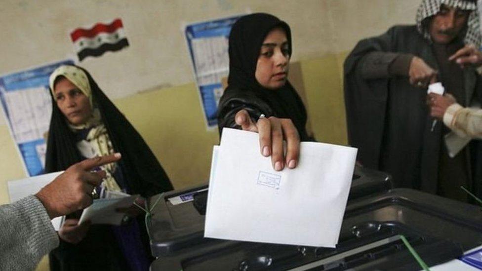 ناخبون عراقيون