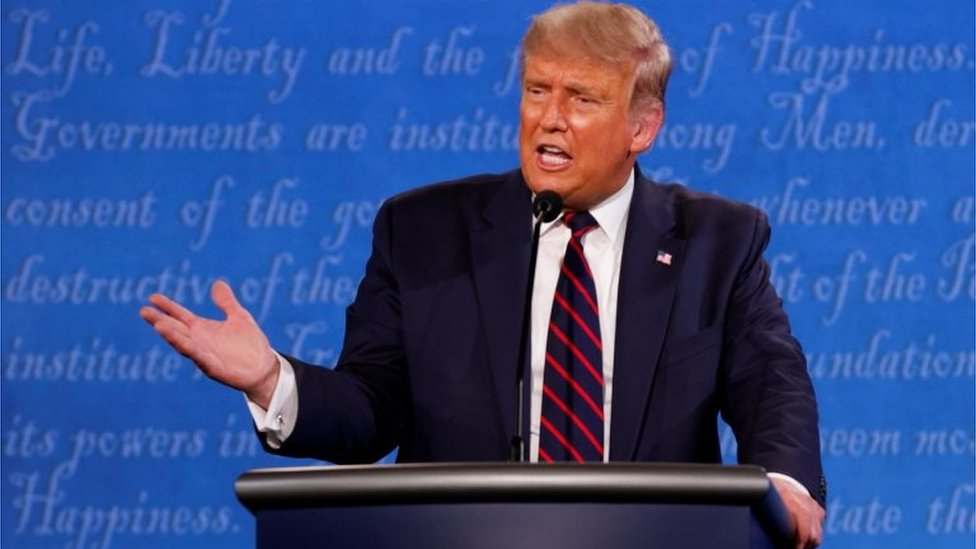 Donald Trump en el debate