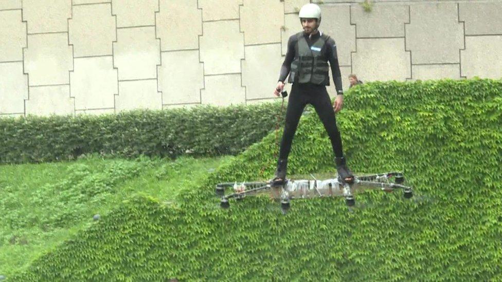 Hoverboard man