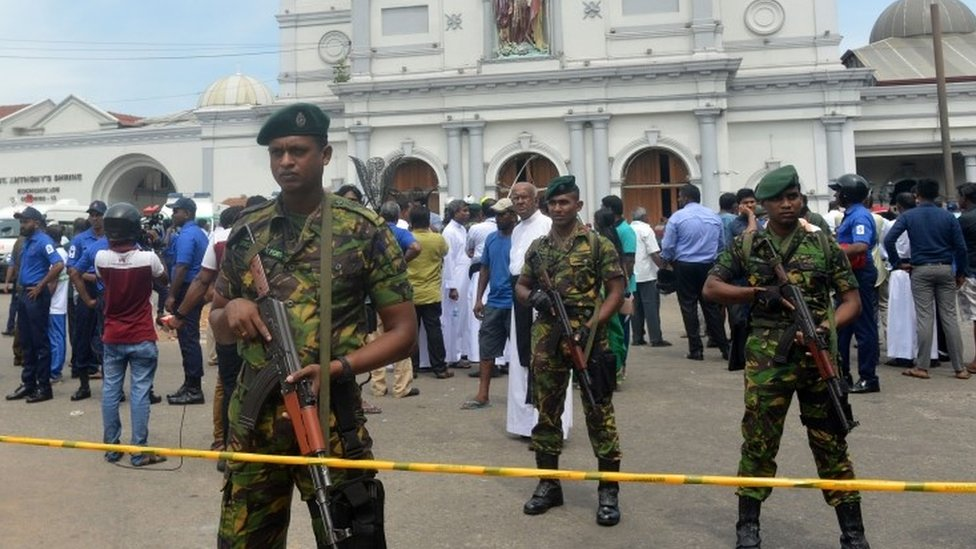 Security guards at St Anthony's Shrine