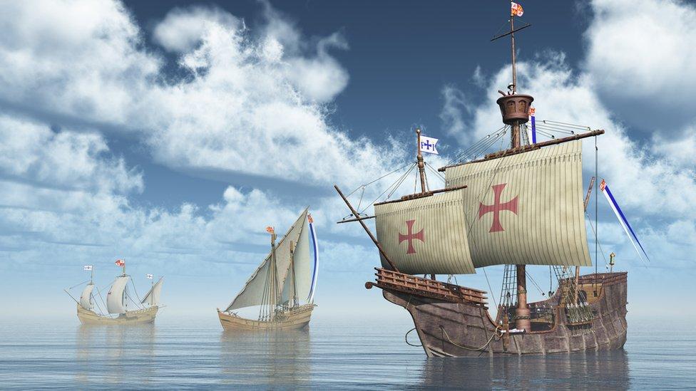 Imagen en 3D de las carabelas de Colón.