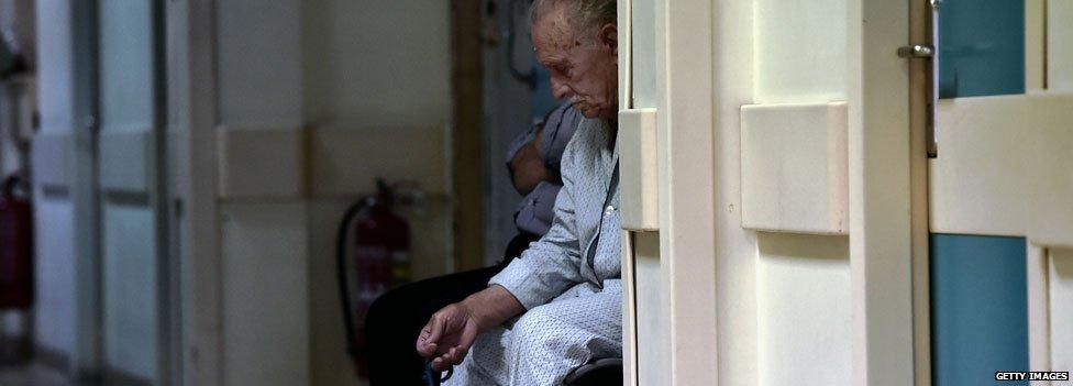 Greek man in hospital