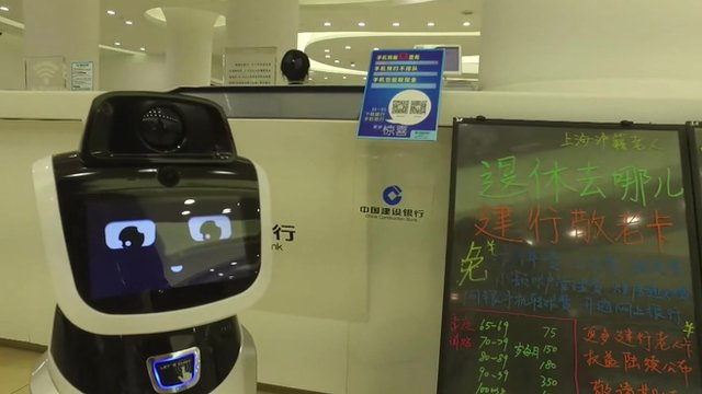 Robot in Chinese office