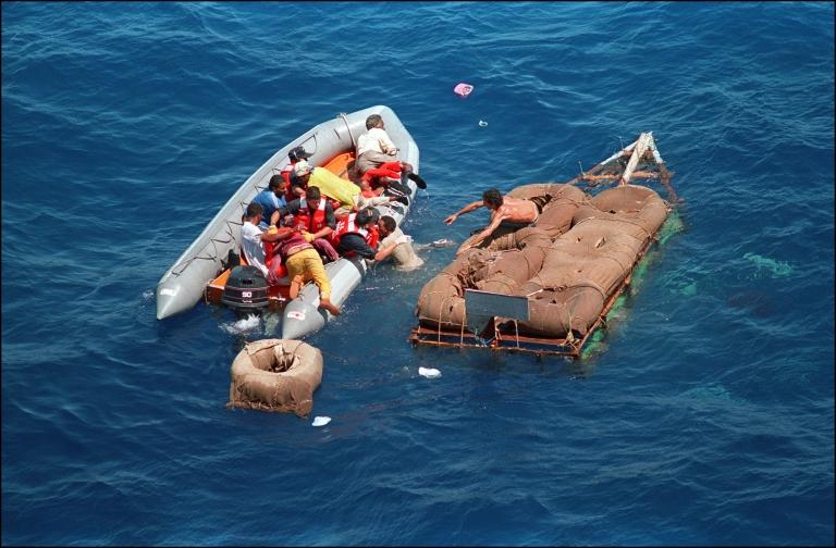 Los balseros que llegaban a tierra podían permanecer en Estados Unidos.
