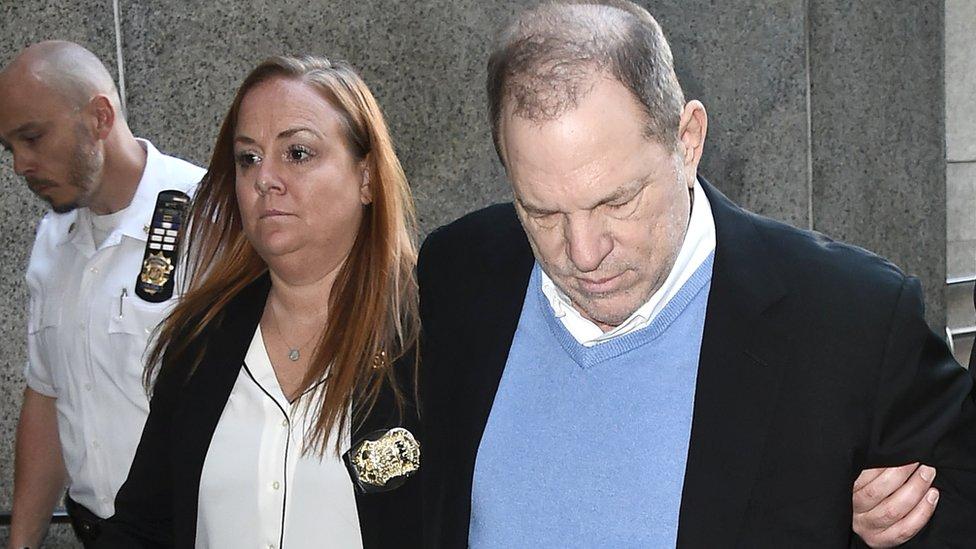 Harvey Weinstein llega al Juzgado Criminal de Manhattan, 25 de mayo de 2018